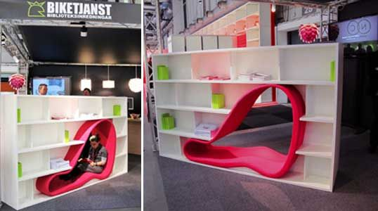 Sakura Adachi | CAVE   Seat Within A Bookcase