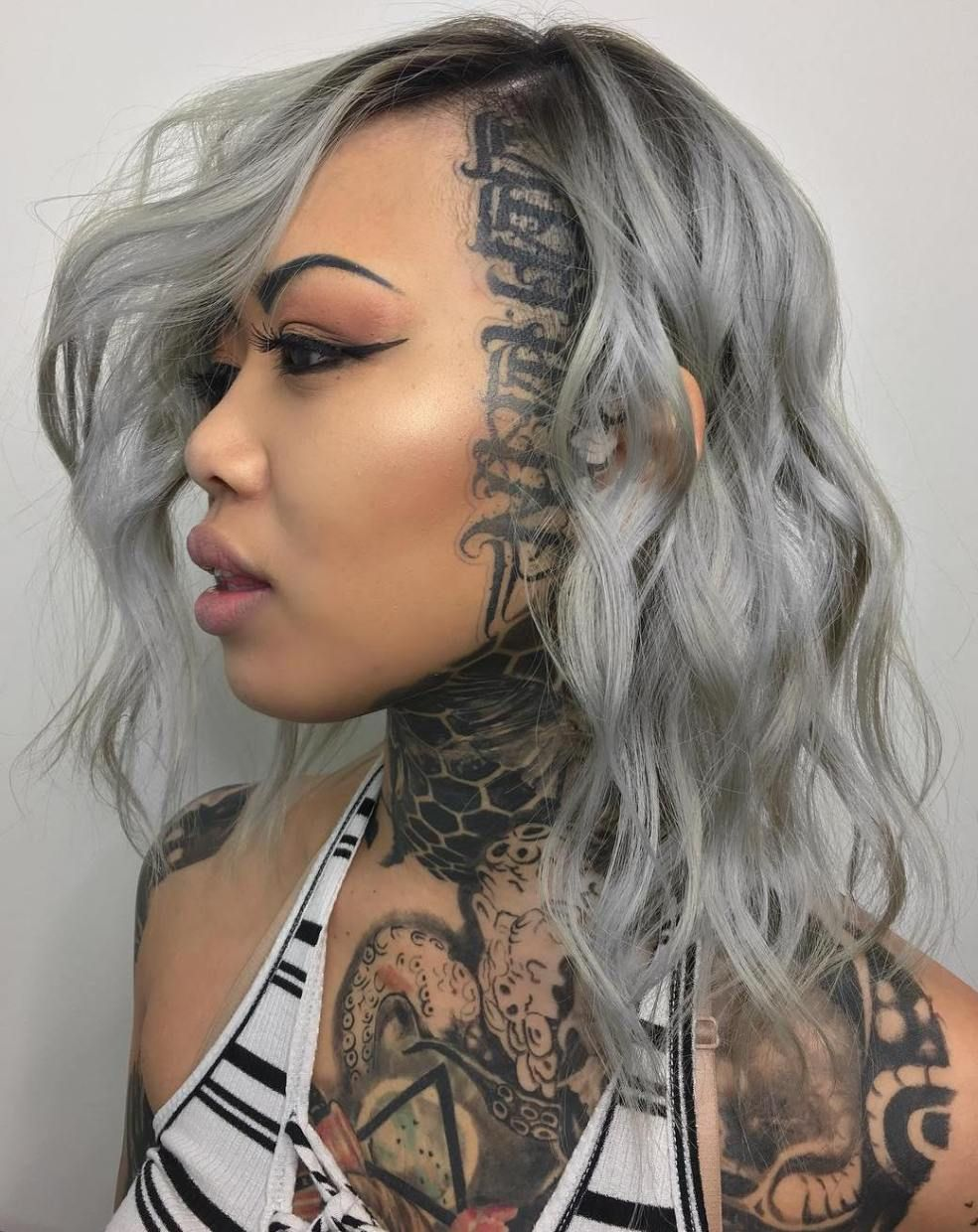 20 Cute Shaved Hairstyles For Women Grey Hairstyle Head Tattoos