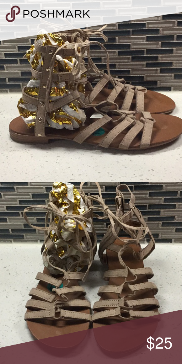 2a365693e220 Gladiator sandal Flesh tone sandal with string enclosure Report Shoes  Sandals