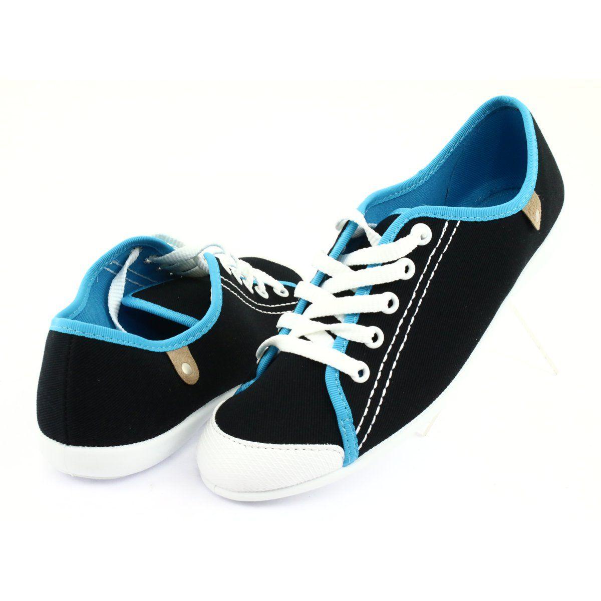 Befado Obuwie Mlodziezowe 248q019 Czarne Niebieskie Sneakers Baby Shoes Tretorn Sneaker