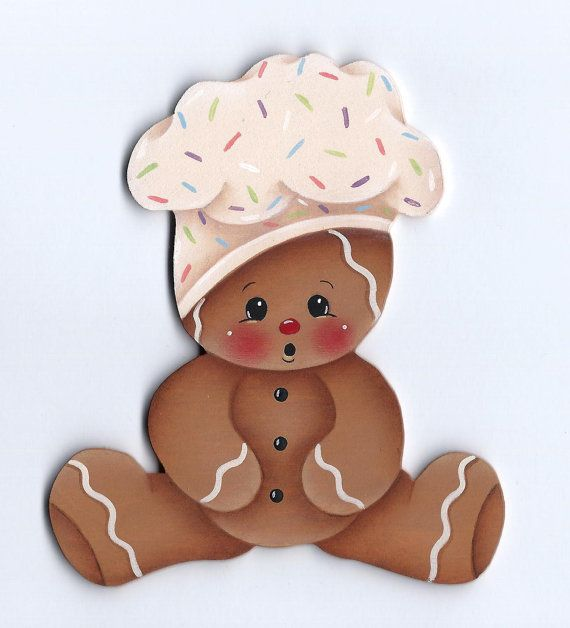 Gingerbread Baby Chef Painting EPattern by GingerbreadCuties, $4.00