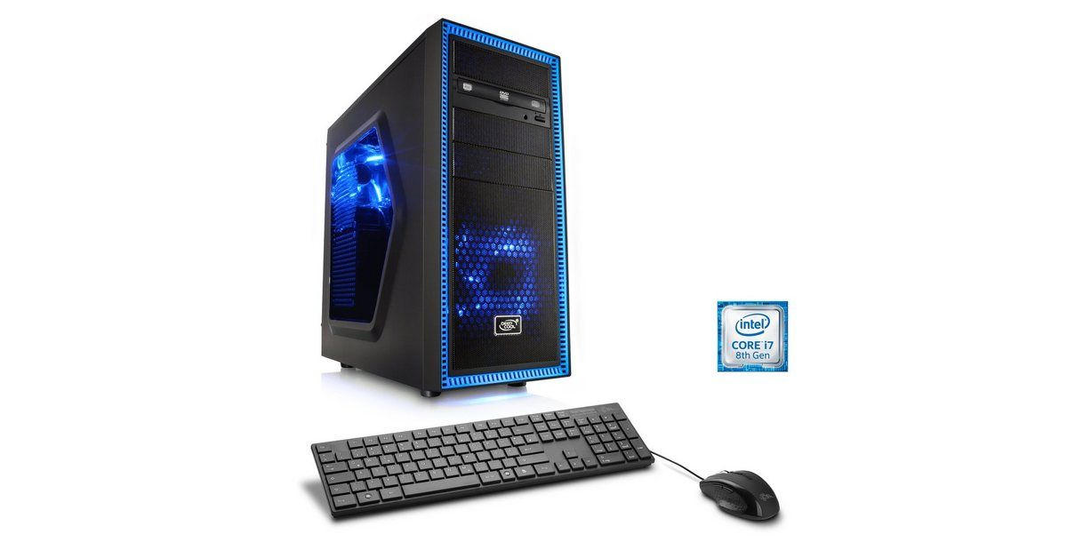 Gaming PC | Core i7-8700 | RTX 2070 | 16GB DDR4 RAM | 240GB SSD »Speed T9512 Windows 10 Home« #windows10