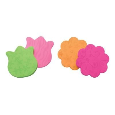 Post-It 2.9 in x 2.8 in Mixed Case of Tulip and Daisy Shapes Super Sticky Notes-7350-FLR - The Home Depot