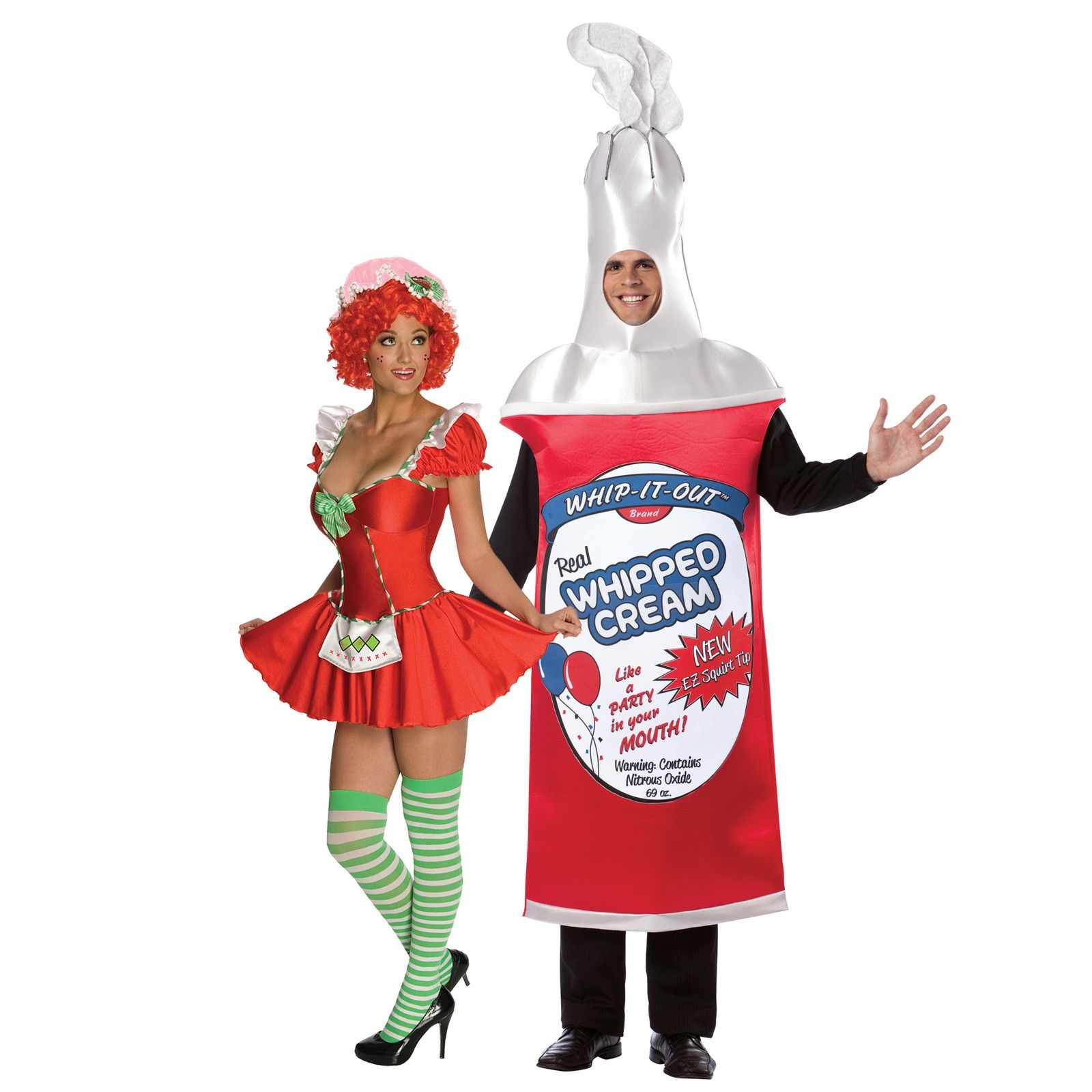 Strawberry Shortcake and Whip Cream Can Couples Costume