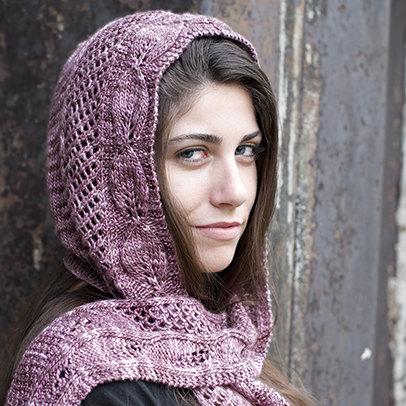 Lady Ediths Hooded Scarf Knit Pattern Pdf Hooded Scarf Knit