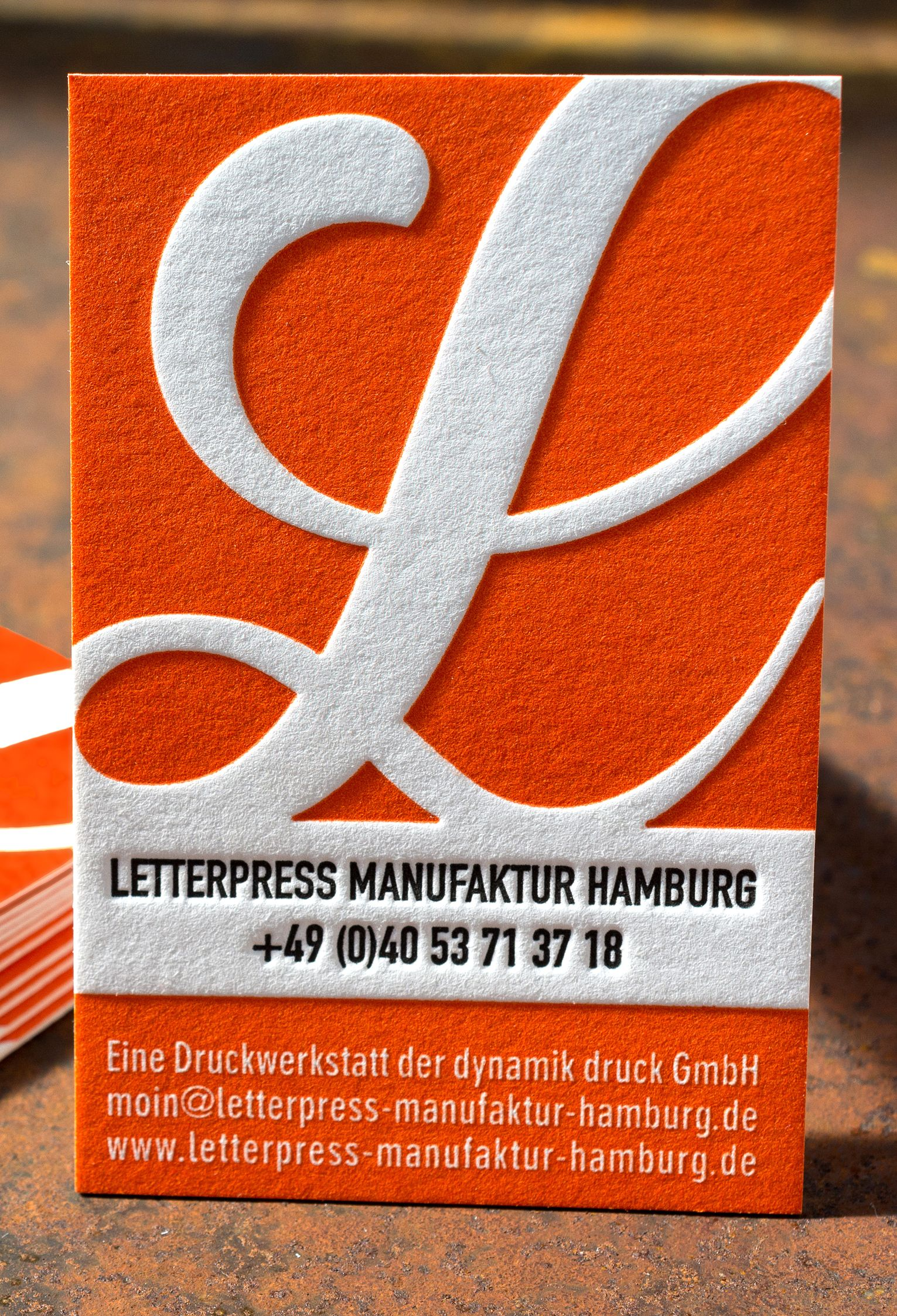 Logo Letterpress Manufaktur Hamburg With Deep Impression