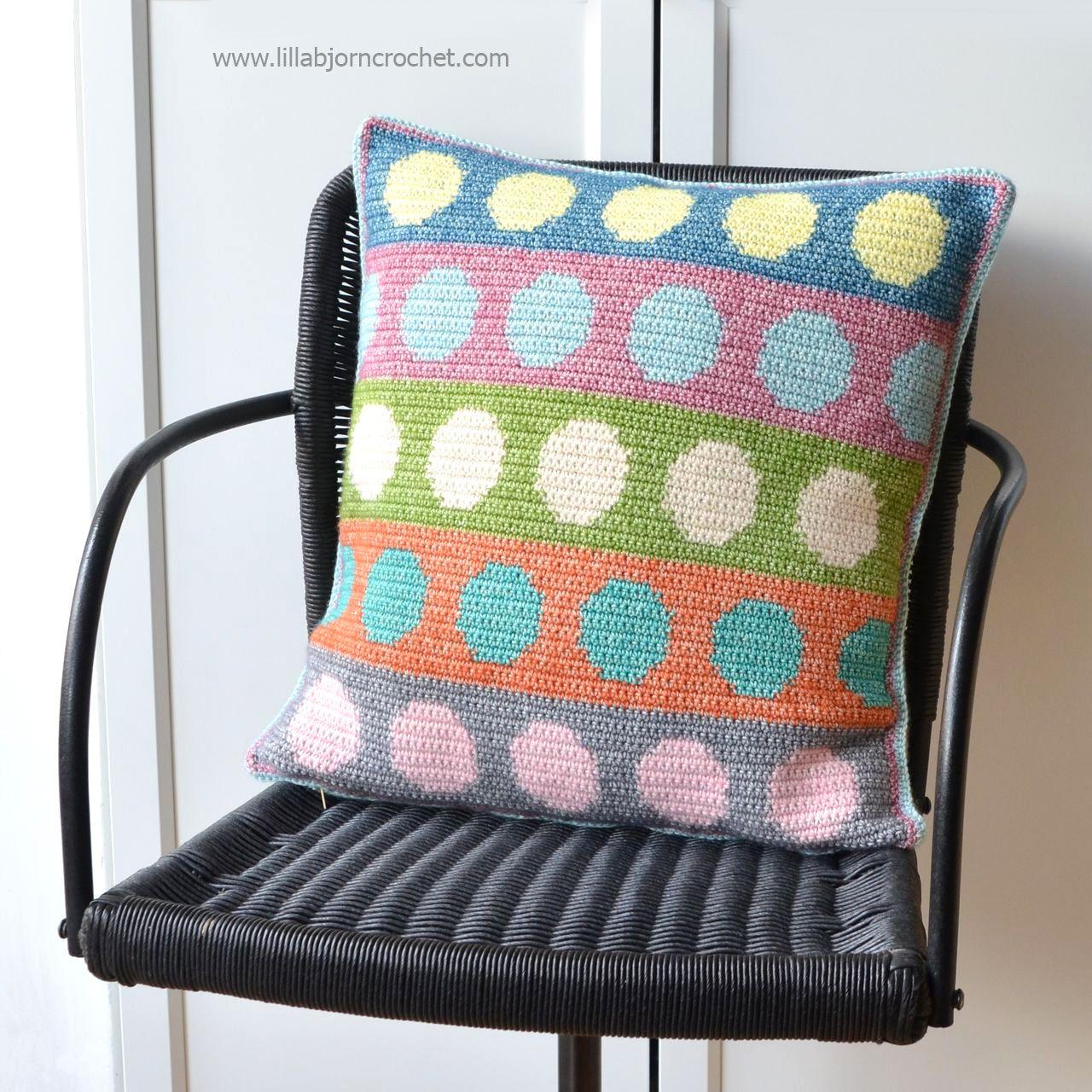 Tapestry circles pillow free crochet pattern knit pinterest