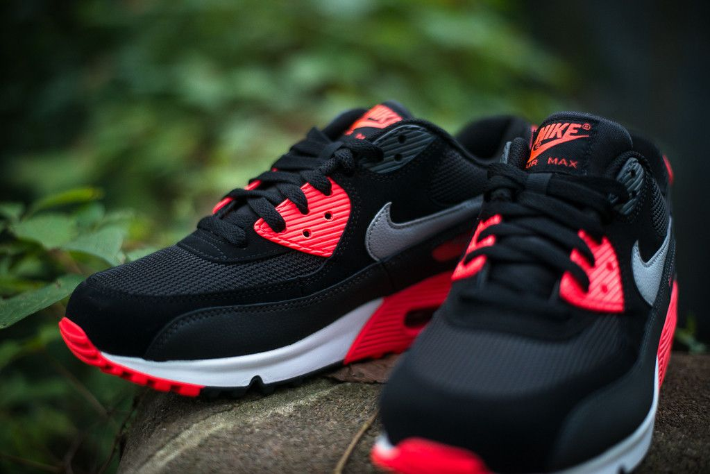 Air Max 90 Black And Red And Grey