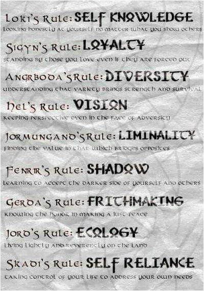 #Tattoo Norse God Rules of life., Click to See More... #norsemythology