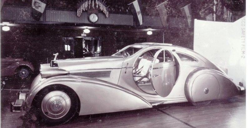 Peterson Auto Museum 1925 Rolls Royce Phantom I 1934 Jonkheere Round Door Aero Coupe 4