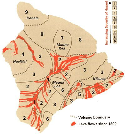 Hawaii Map Lava.Lava Zones On The Big Island Hawaii Big Island Real Estate