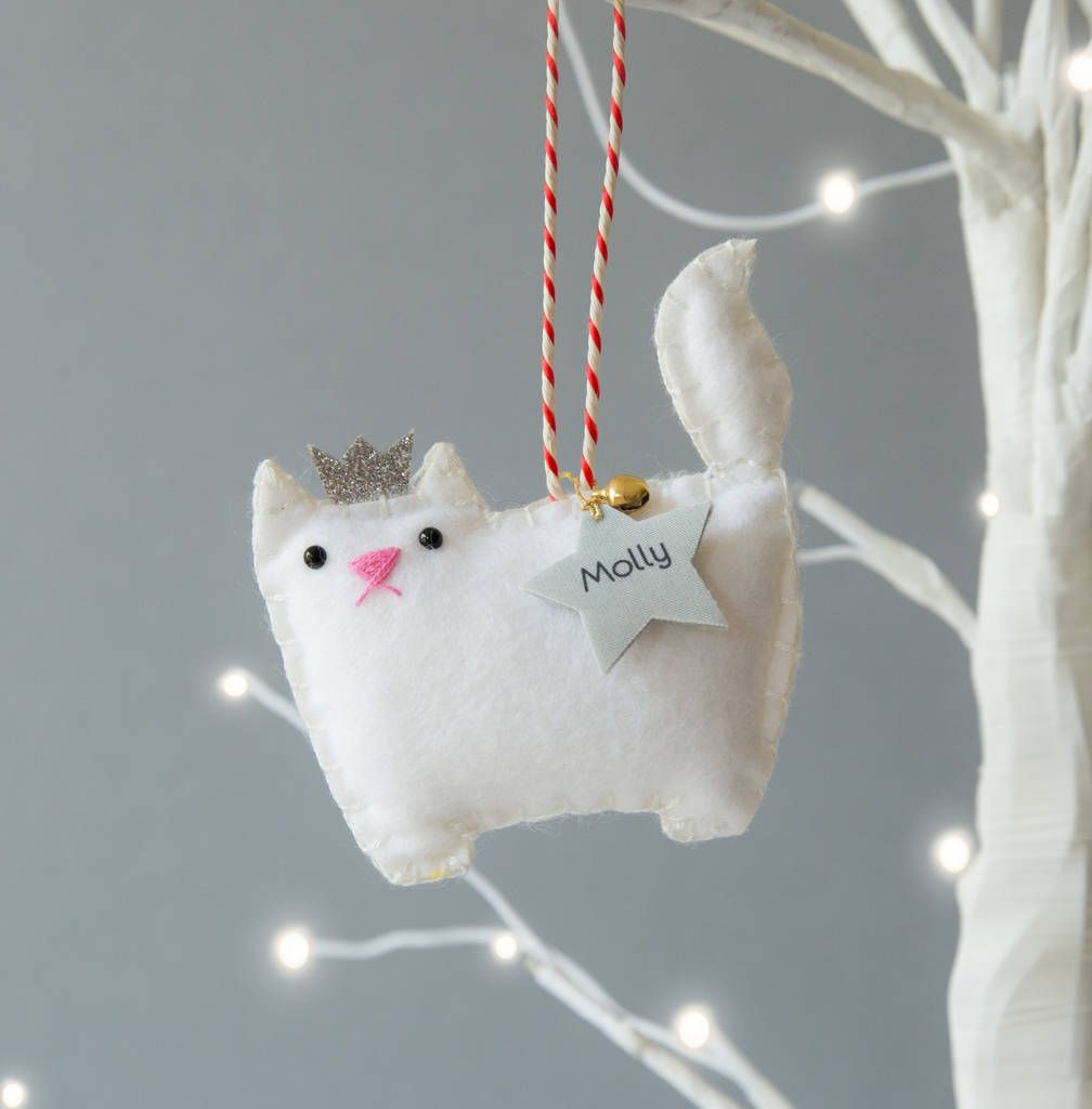 Cat Personalised Christmas Decoration