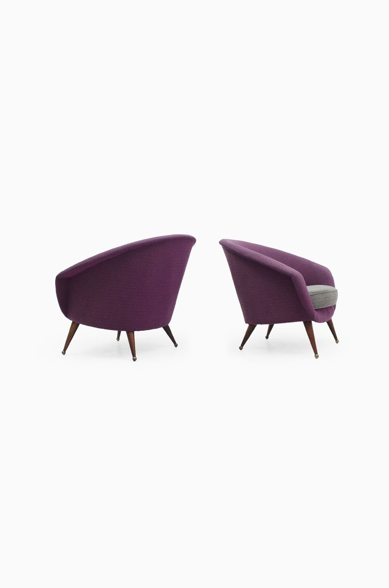 Folke Jansson tellus easy chairs with matching sofa, produced by SM Wincrantz at Studio Schalling