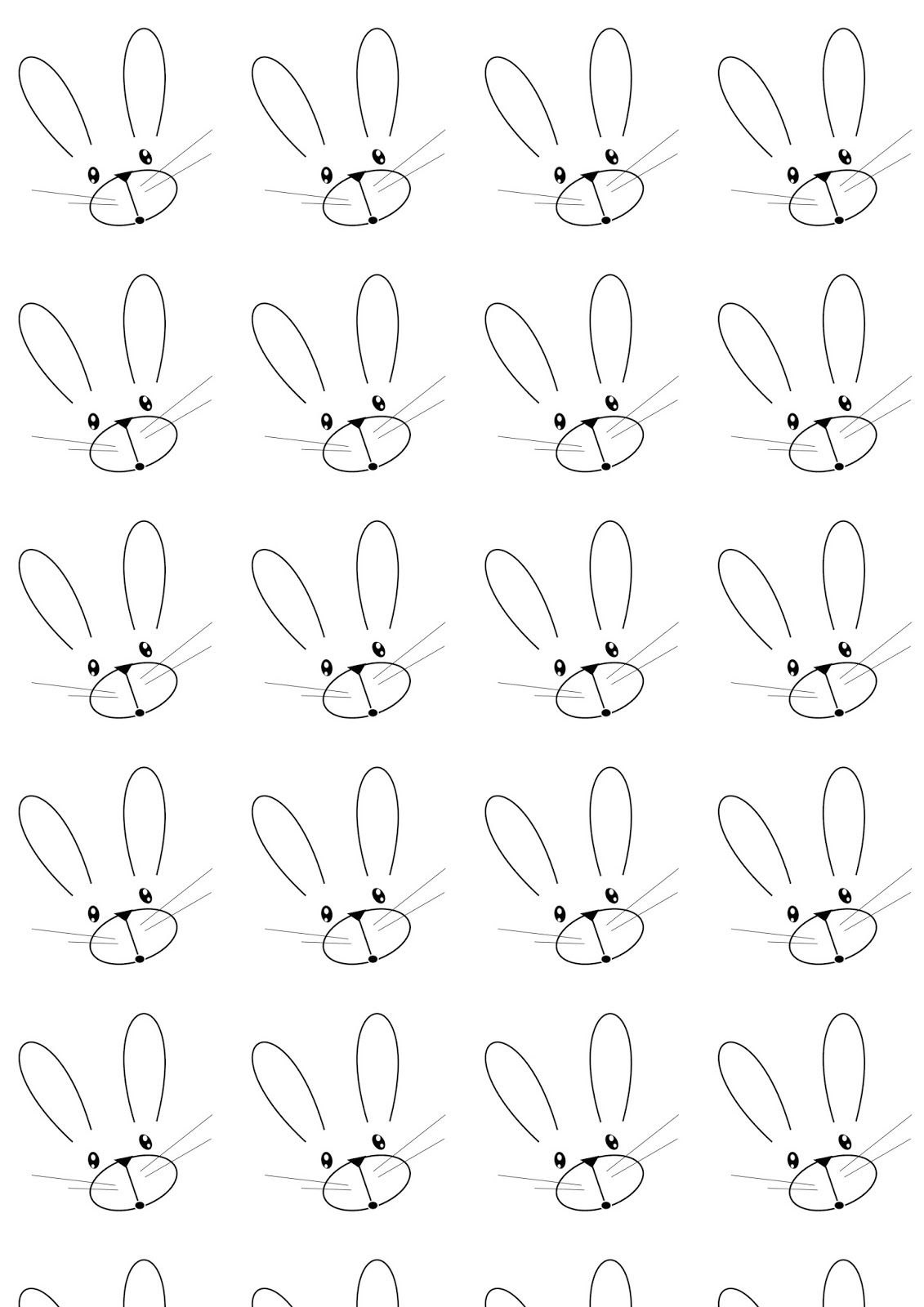 Bunny Patterns Printables Simple Design Ideas