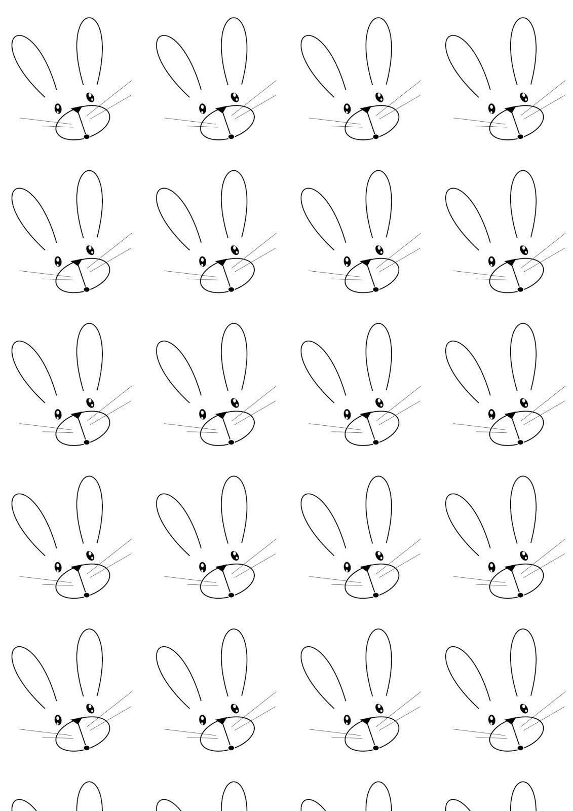 Free printable bunny pattern paper blackandwhite free - Scrapbook background free printables ...