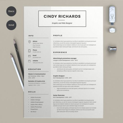 Well-organized, table-formatted and fully editable free resume - colored resume paper