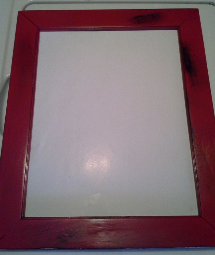 BEAUTIFUL Distressed Red & Black 11 x 14 Picture Frame