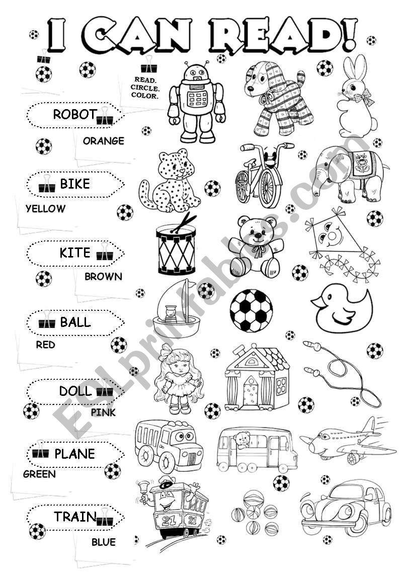 I Can Worksheets For Kindergarten