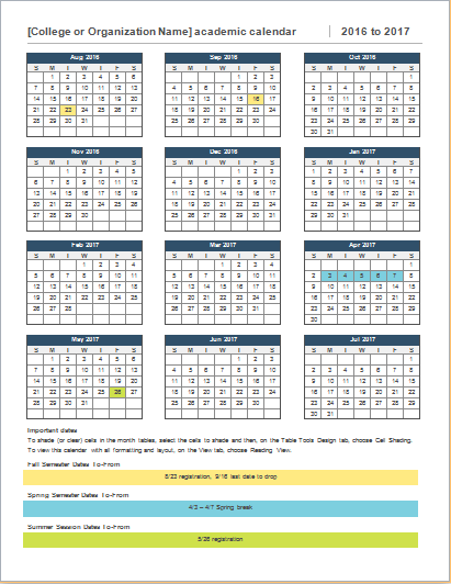 College Year Calendar Download At Httpworddoxcollege Year
