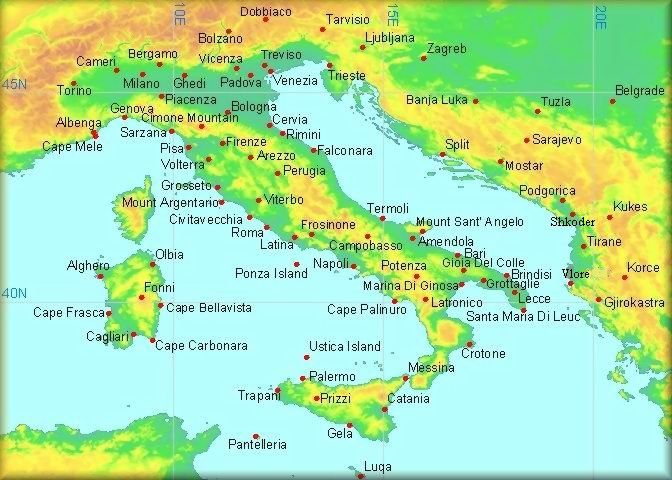 Map of croatia and italy climatological information for italy map of croatia and italy climatological information for italy and neighbouring countries gumiabroncs Images