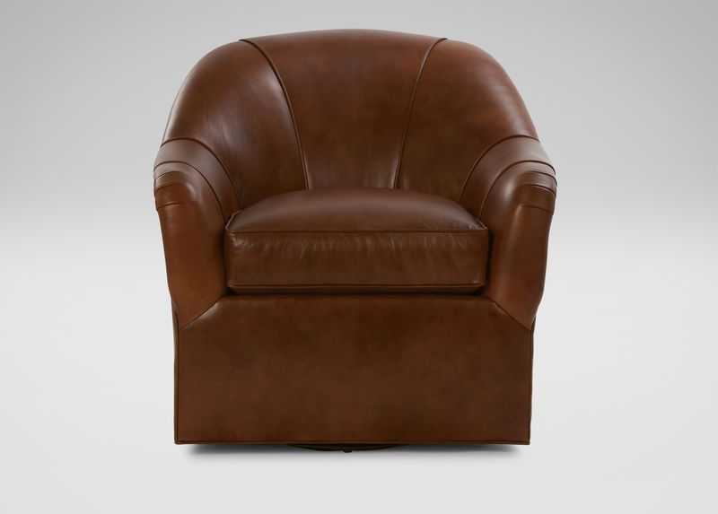 Pleasant Ethan Allen Marino Swivel Leather Chair Customize With Gmtry Best Dining Table And Chair Ideas Images Gmtryco