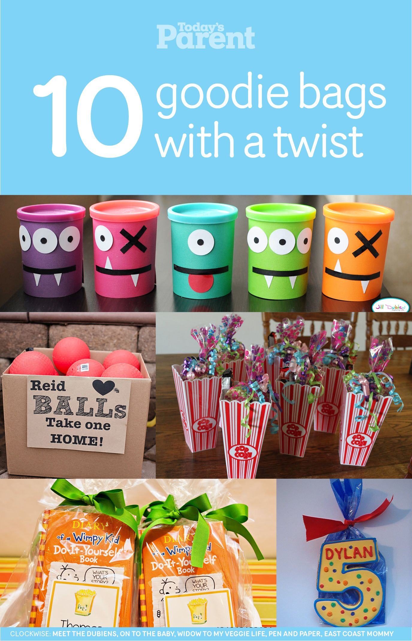 14 Goodie Bags With A Twist Today S Parent Party Favors For Kids Birthday Birthday Party Goodie Bags Kid Party Favors