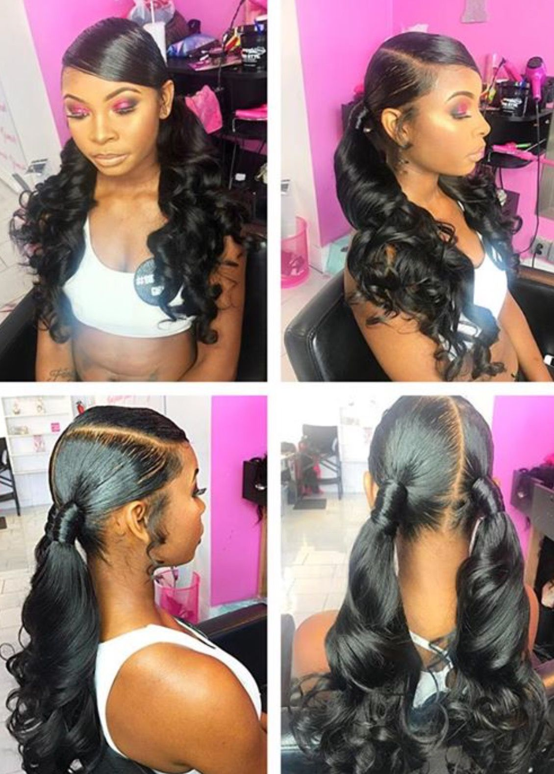 Two Ponytails Hair Nails And Style Done By Tynisha Hair Styles Girl Hairstyles Natural Hair Styles