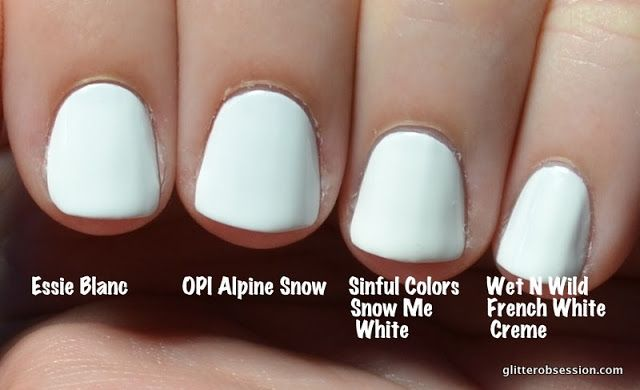 Glitter Obsession Battle Of The White Polish White Nail Polish White Toe Nail Polish Sinful Colors Nail Polish