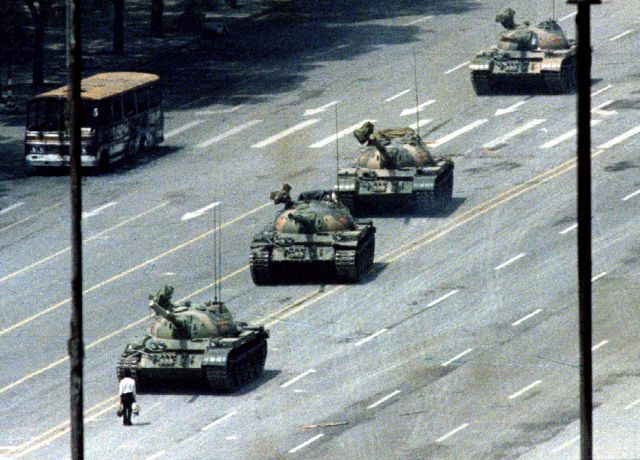 photos that define a moment: The man in front of the tank in [Tiananmen] Square
