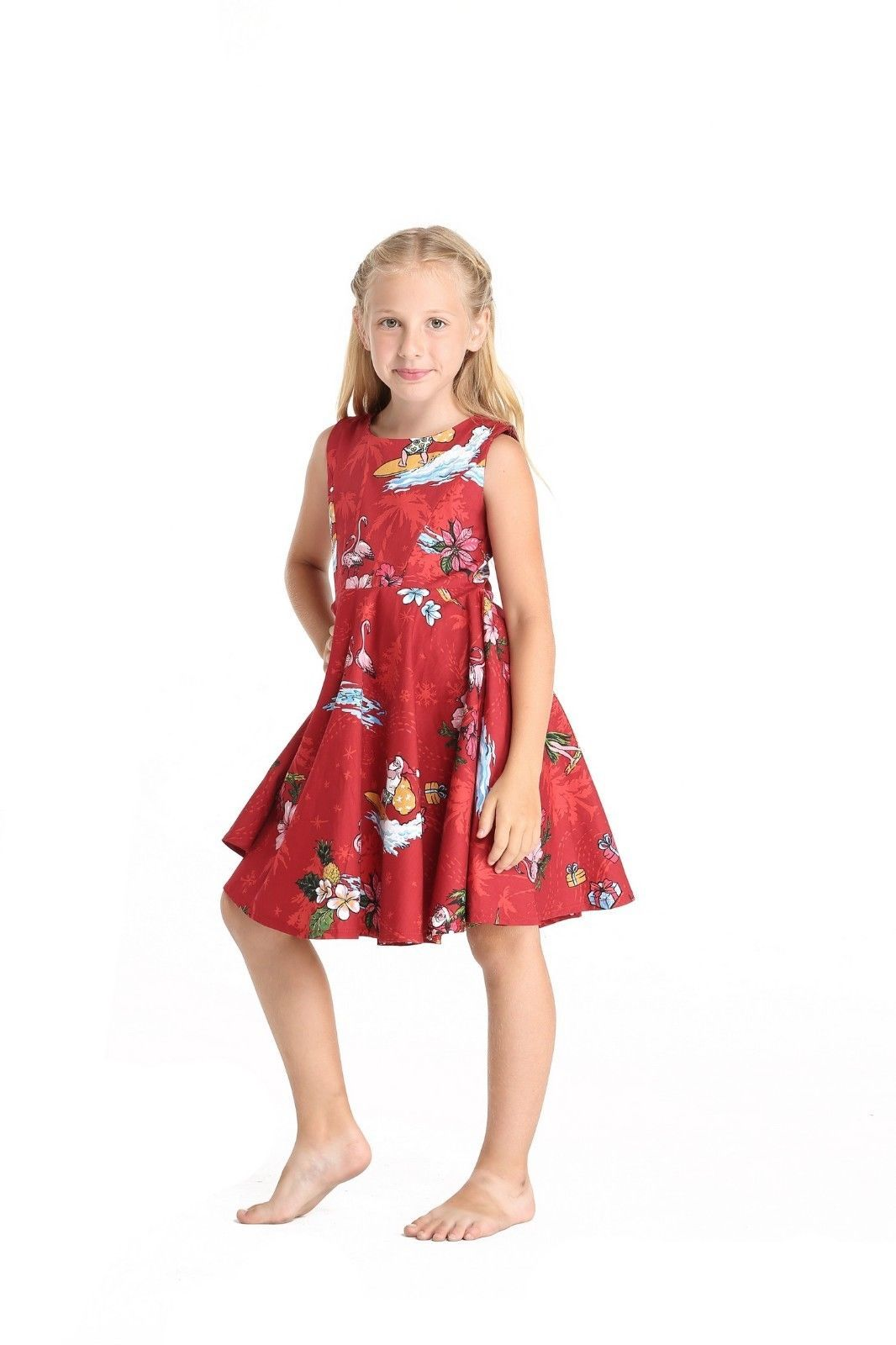 Hawaii Hangover Girl Elastic Strap Dress Christmas Dress Santa Navy