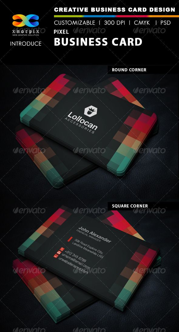 Pixel business card adobe photoshop business cards and adobe reheart Choice Image
