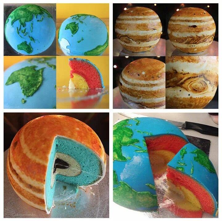 Space themed fondant scenery cake yeners way.