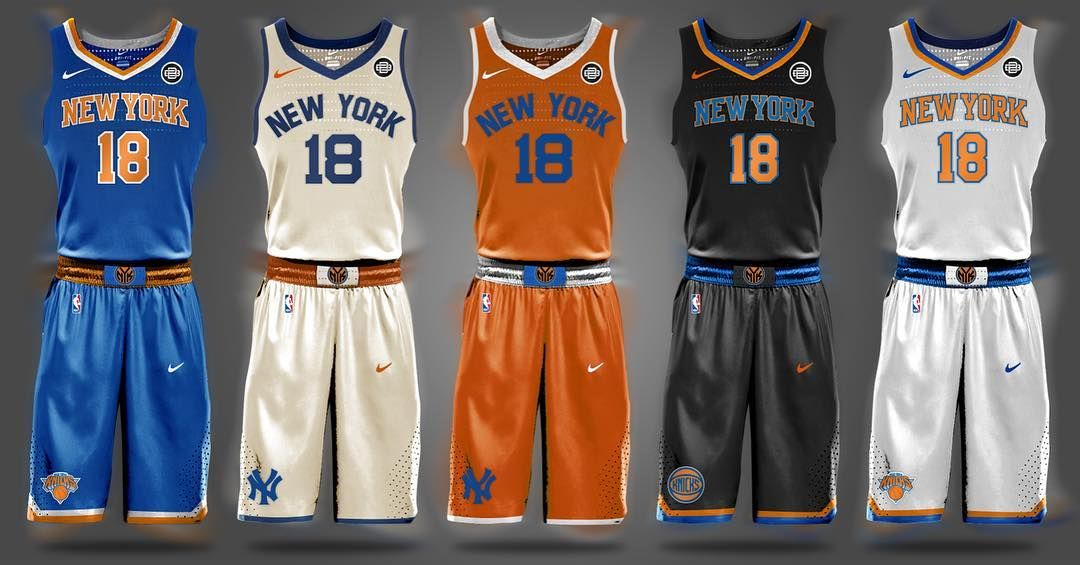"""ee109d87 Brian Begley on Instagram: """"NBA Nike Uniform Design Concepts for the  @nyknicks"""""""