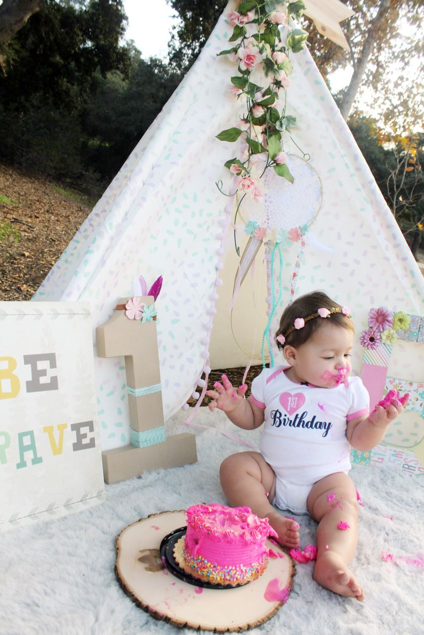 Wild one girl , tribal Birthday, first birthday, tee pee
