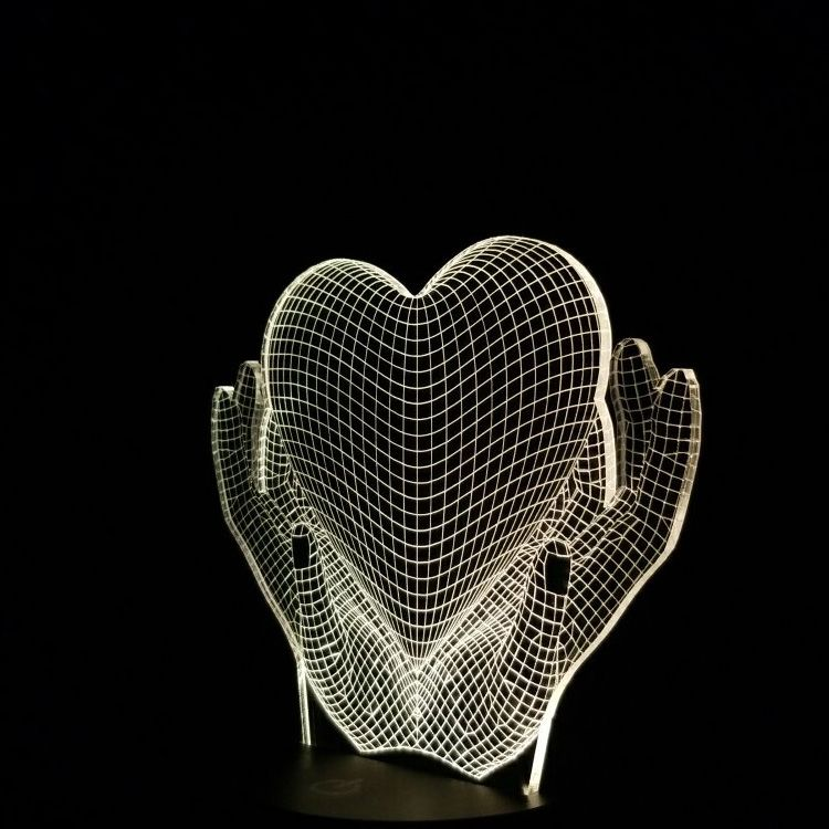 Heart N Hands Custom And Personalized High Quality 3d Optical Illusion Lamps Fundraiser 3d Lamps 3d Led Lamp With Th 3d Led Lamp 3d Optical Illusions 3d Lamp