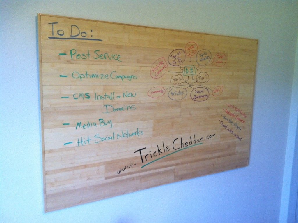How To Make A Wooden Dry Erase White Board Diy Dry Erase Board