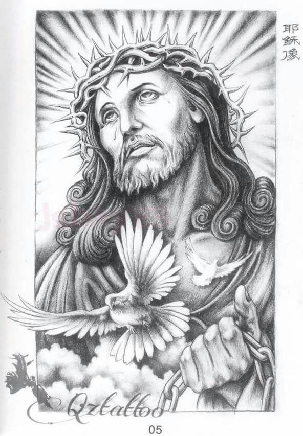 Jesus Christ And Mary A4 For Tattoo Christus 8