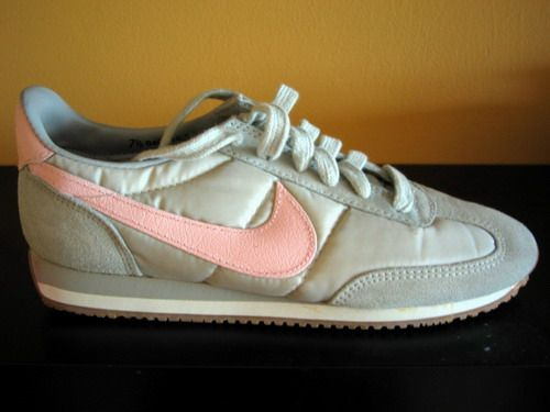 grey and pink 1980s nike tennis shoes had some of these in
