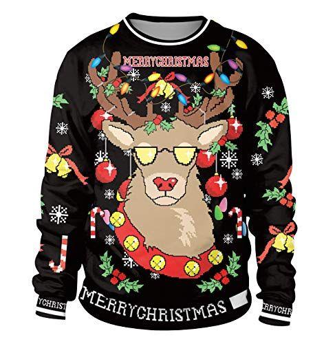 Weihnachtspullover-Herren-Pullover-Pulli-Weihnachten-Rundhals-Sweatshirt -Pullis- 41f4249d54
