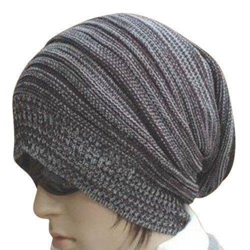a05a3011 Dealzip Inc Cute Unisex Light Grey Woven Knit Crochet Plicated Baggy Slouch  Warm Winter Hat Cap Beret Artist Beanie