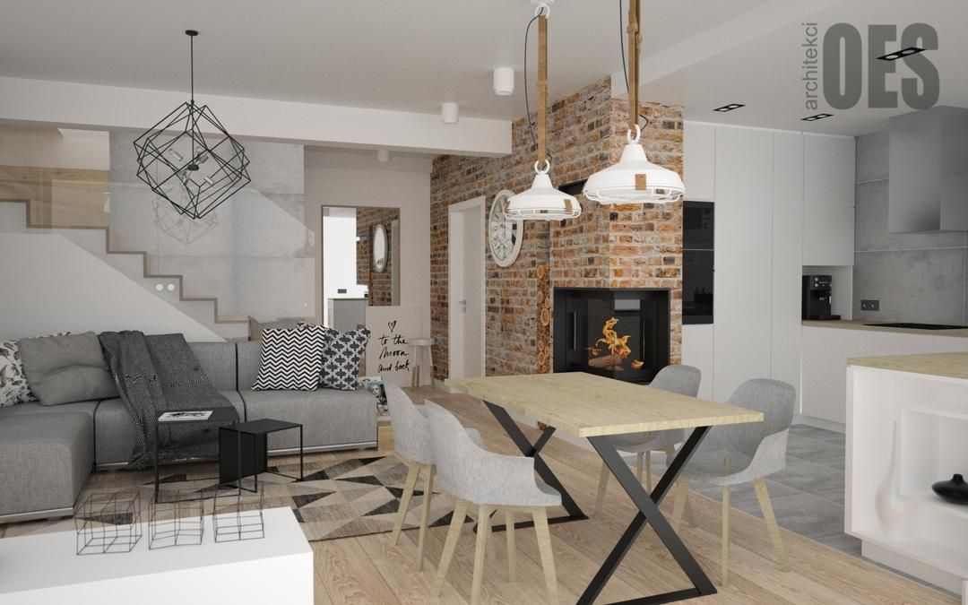 Kuchnia Otwarta Na Salon Brick Living Room Small Living Rooms Old Home Renovation
