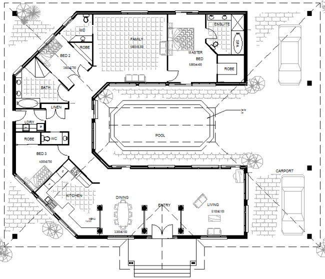 House Plan 3 BEDROOM single GARAGE Flooring Pinterest Bedrooms