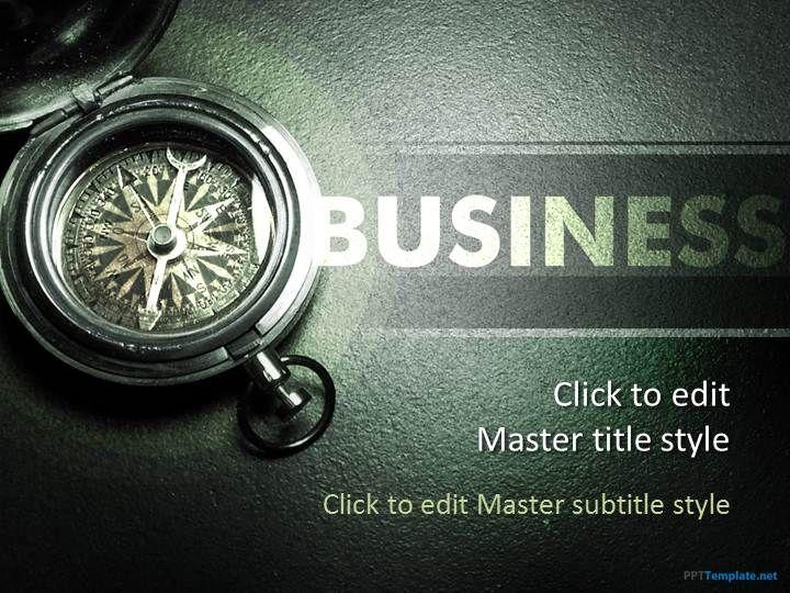 free compass ppt template | education ppt templates | pinterest, Modern powerpoint