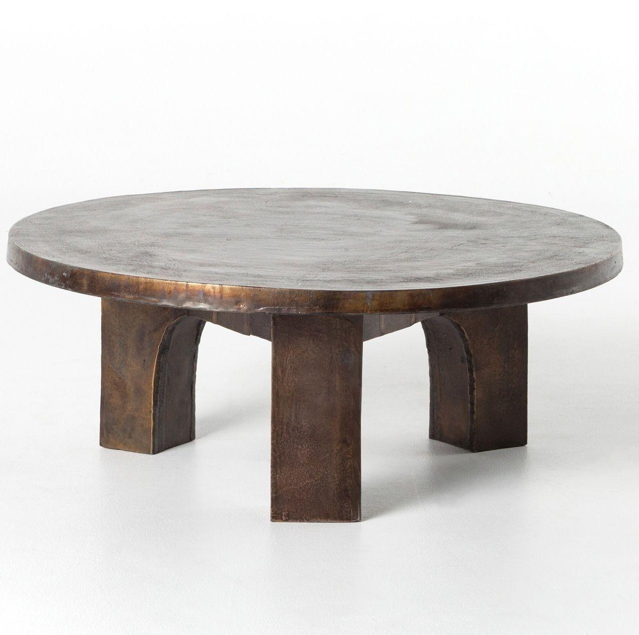 Cruz Round Outdoor Coffee Table Antique Rust In 2021 Coffee Table Outdoor Coffee Tables Round Coffee Table [ 1273 x 1280 Pixel ]