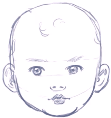 Do you want to learn how to draw a babys face in the correct proportions this is a great drawing tutorial for drawing babies in an illustrative