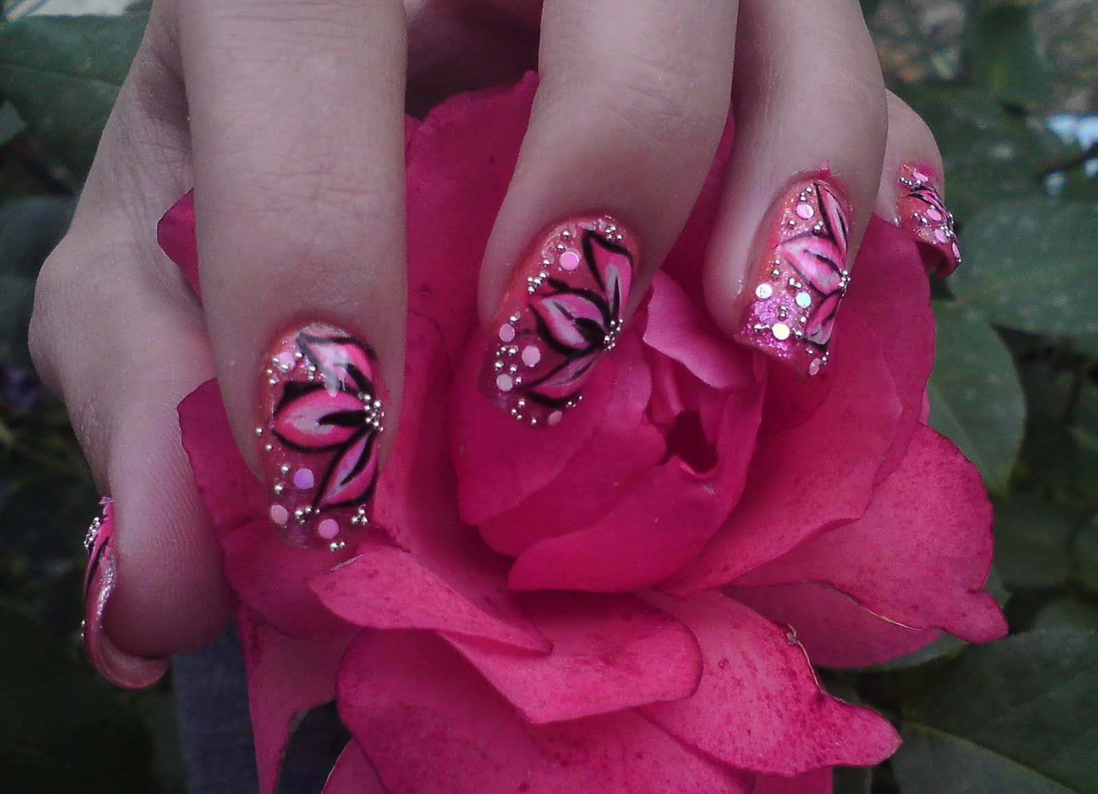 The idea of using animal print nail designs as part of nail art to