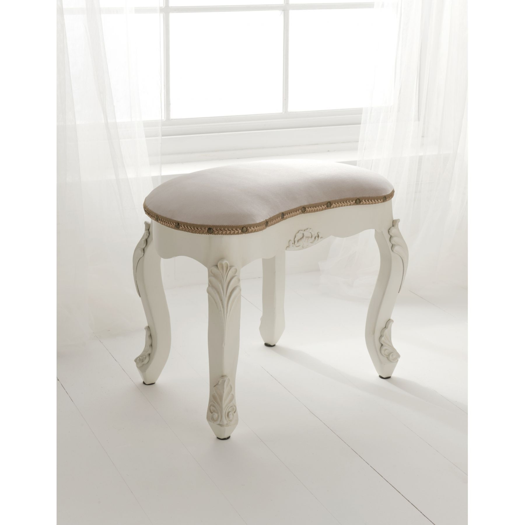 bedroom stool. This exceptional White Antique French Stool is available online from Pin by Pe  on white Pinterest furniture Stools and
