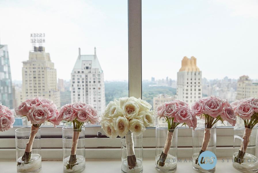 Bouquets / Leah & Michael / Le Parker Meridien / Whyman Studios