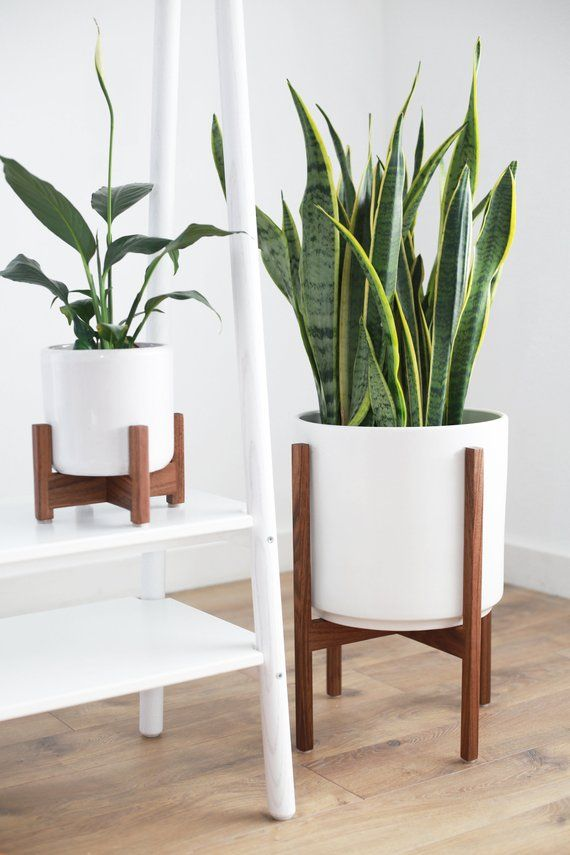 Mid Century Modern Plant Pot Modern Planter Large Indoor Planter