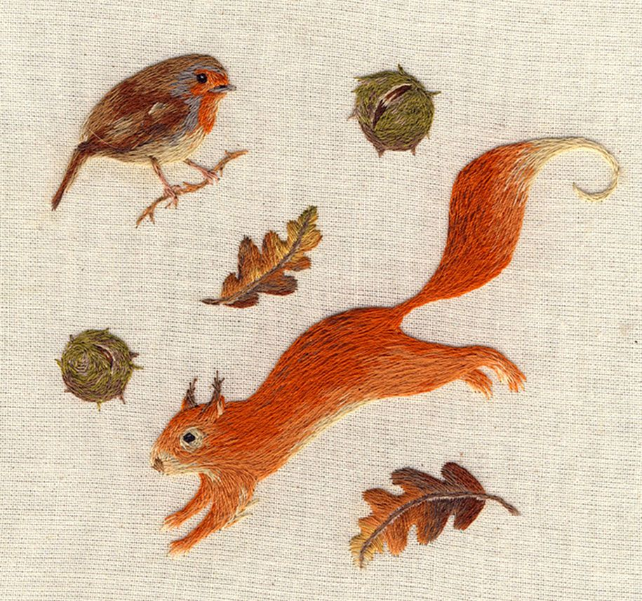 realistic-animal-embroidery-chloe-giordano-10   objects   Pinterest ...